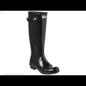 Hunter Black Orginal Tall Boot US 5/ UK 3